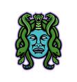 medusa greek god mascot vector image