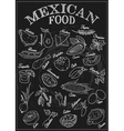 Mexican Food Icon Set vector image