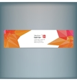 Modern banner with colorful polygonal vector image vector image