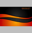 modern dark black background and orange lines vector image vector image
