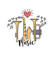 musical instruments to play music vector image vector image