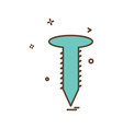 nut bolt icon design vector image vector image