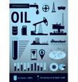 oil infografic vector image