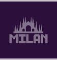 original logo of milan city with caption vector image vector image
