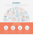 photography concept in circle vector image vector image