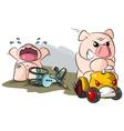potbelly piggies road hog vector image vector image