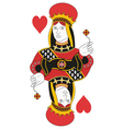 Queen of hearts no card vector image vector image