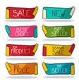 retro labels set business stickers sale new best vector image vector image