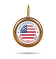 round medallion for usa independence day vector image vector image