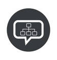 Round scheme dialog icon vector image vector image