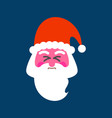 santa straining face red face of christmas vector image