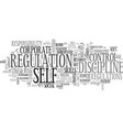 self-regulation word cloud concept vector image vector image