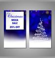 set of stylized christmas tree invitation flyer vector image vector image