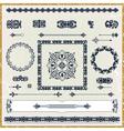 set of vintage floral pattern design elements vector image vector image