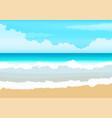 shiny sun seascape blur vector image vector image