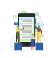 social media comments flat style design vector image