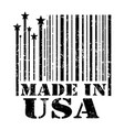 stamp made in the usa vector image vector image