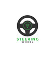 steering wheel graphic design template vector image vector image