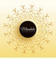 stylish mandala decoration background vector image vector image