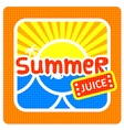 Summer juice label vector image vector image