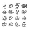 sushi japanese food sign thin line icon set vector image vector image