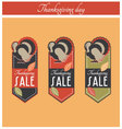Thanksgiving sale banner vector image vector image