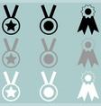 three awards white grey black icon vector image vector image