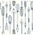 tribal indian seamless set of arrows vector image vector image