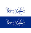 typography of the usa north dakota states vector image vector image