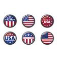 usa buttom set with american flag vector image