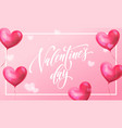 valentines day greeting card valentine red vector image vector image