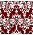 vintage damask seamless pattern floral red vector image
