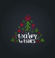 warm wishes lettering on black background vector image