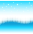 Wave background with halftone effect Stars snow vector image vector image