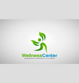 wellness center logo design vector image