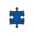 White Puzzle Pieces with One Blue Missing vector image vector image