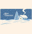 winter landscape with house and festive christmas vector image vector image