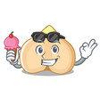 with ice cream chickpeas character cartoon style vector image vector image