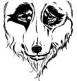 wolf head portrait illustration vector image vector image
