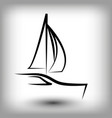 yacht logo templates sail boat silhouettes vector image