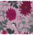 Romantic Seamless Flower Pattern vector image