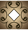 abstract swirl design brown background vector image
