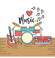 musical instruments to play music vector image