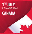 canada day flag and patriotic banner vector image