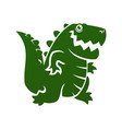 alligator or dinosaur silhouette cut out icon vector image