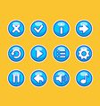 Aqua buttons for game vector image vector image