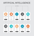 artificial intelligence infographic 10 steps ui vector image vector image