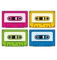 audio cassettes vector image vector image