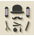 barber icon set vector image