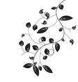 Black leaf vector image